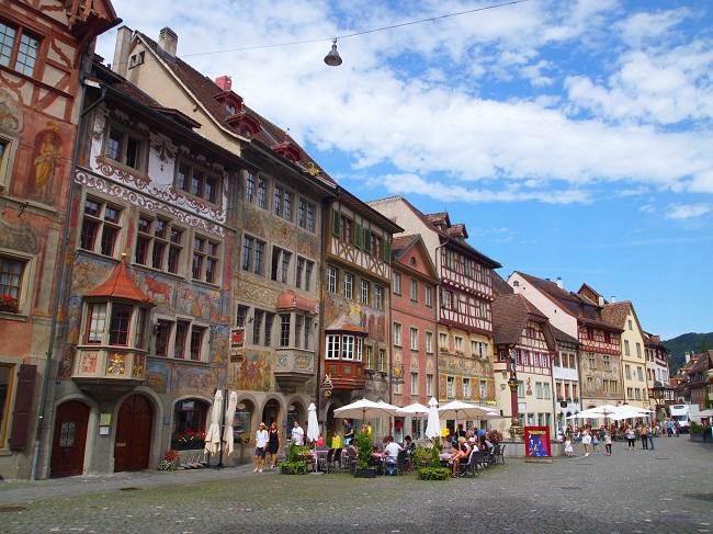 南西ドイツ旅行(8)「ラインの宝石」と呼ばれるシュタイン・アム・ラインとシャフハウゼン