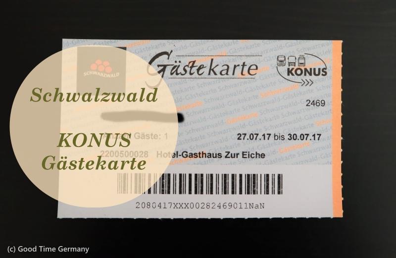 黒い森の電車やバス 、博物館が無料になる「KONUSゲストカード」