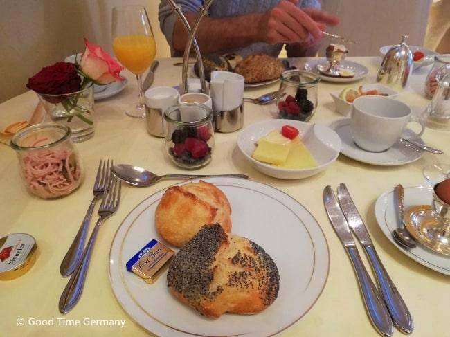 エバーシュタイン城 朝食