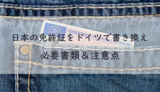 ドイツで日本の免許証を書き換え 必要書類、流れと注意点